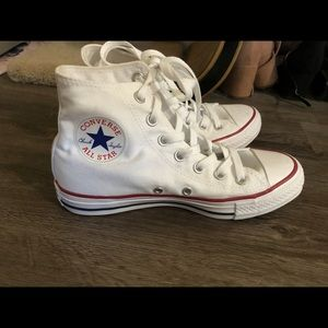 White High Top Converse Sneakers